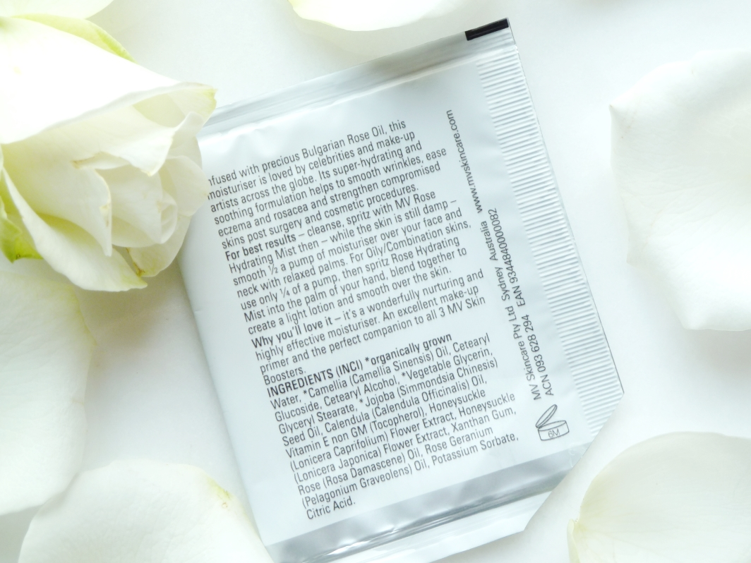 MV Rose Soothing and Protective Moisturiser