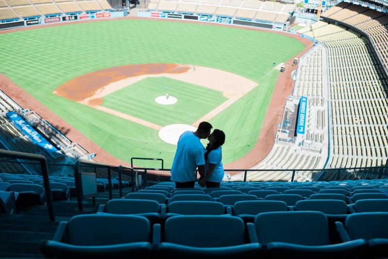 Dodgers-Stadium-Engagement-Photographer-Carissa-Woo-Photography_0009