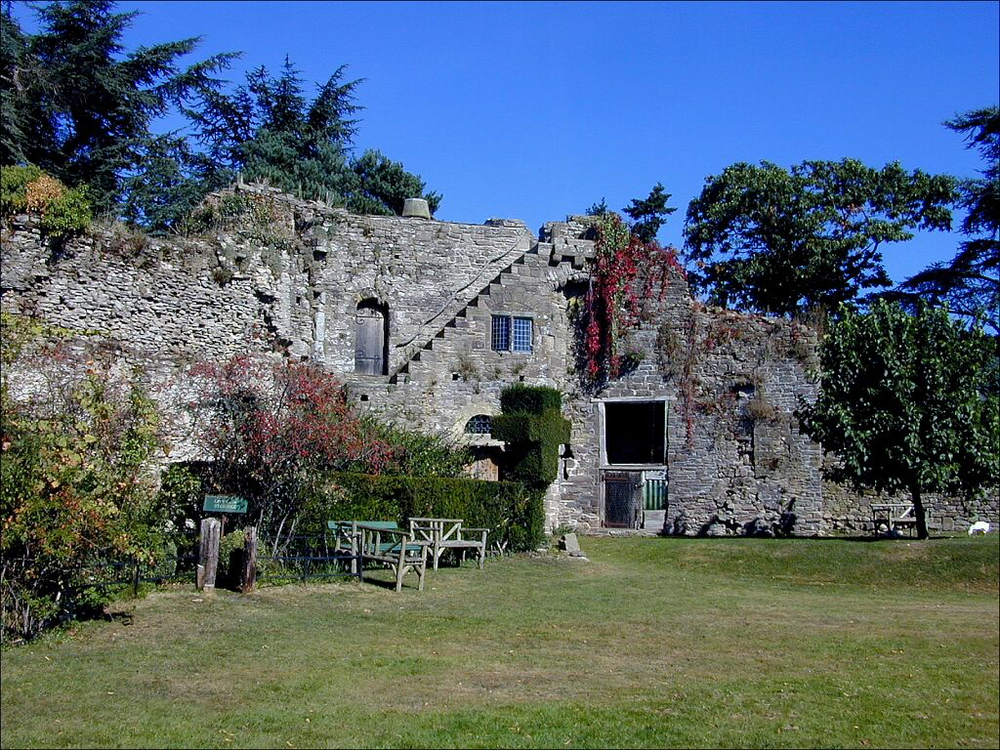 Usk Castle, Monmouthshire, Wales