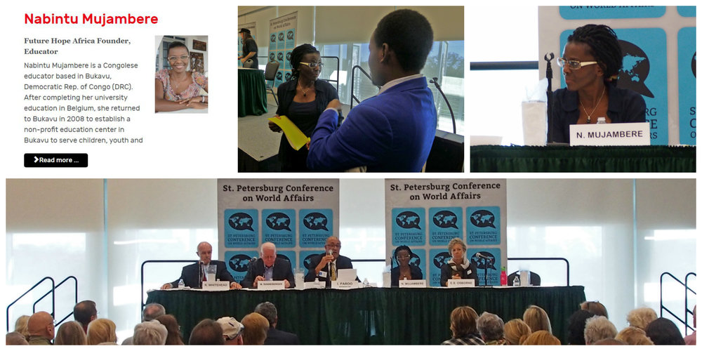 Future Hope Africa director speaks at world affairs conference