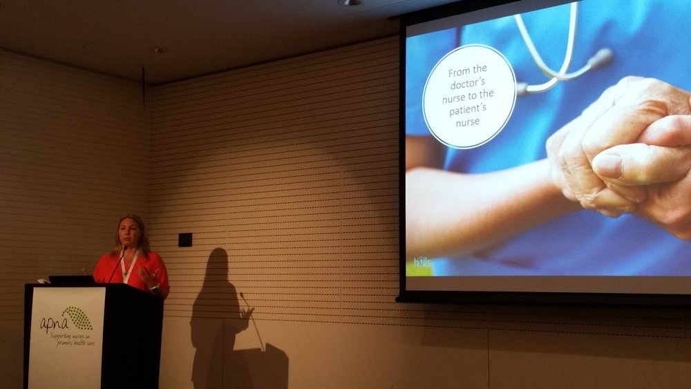 APNA National Conference - We were very pleased being represented by our very own Kylie Foley at the recent Australian Practice Nurses Association conference in Adelaide. Kylie spoke about the wonderful job our nurses and team are doing and the great relationships they are building with our patients.