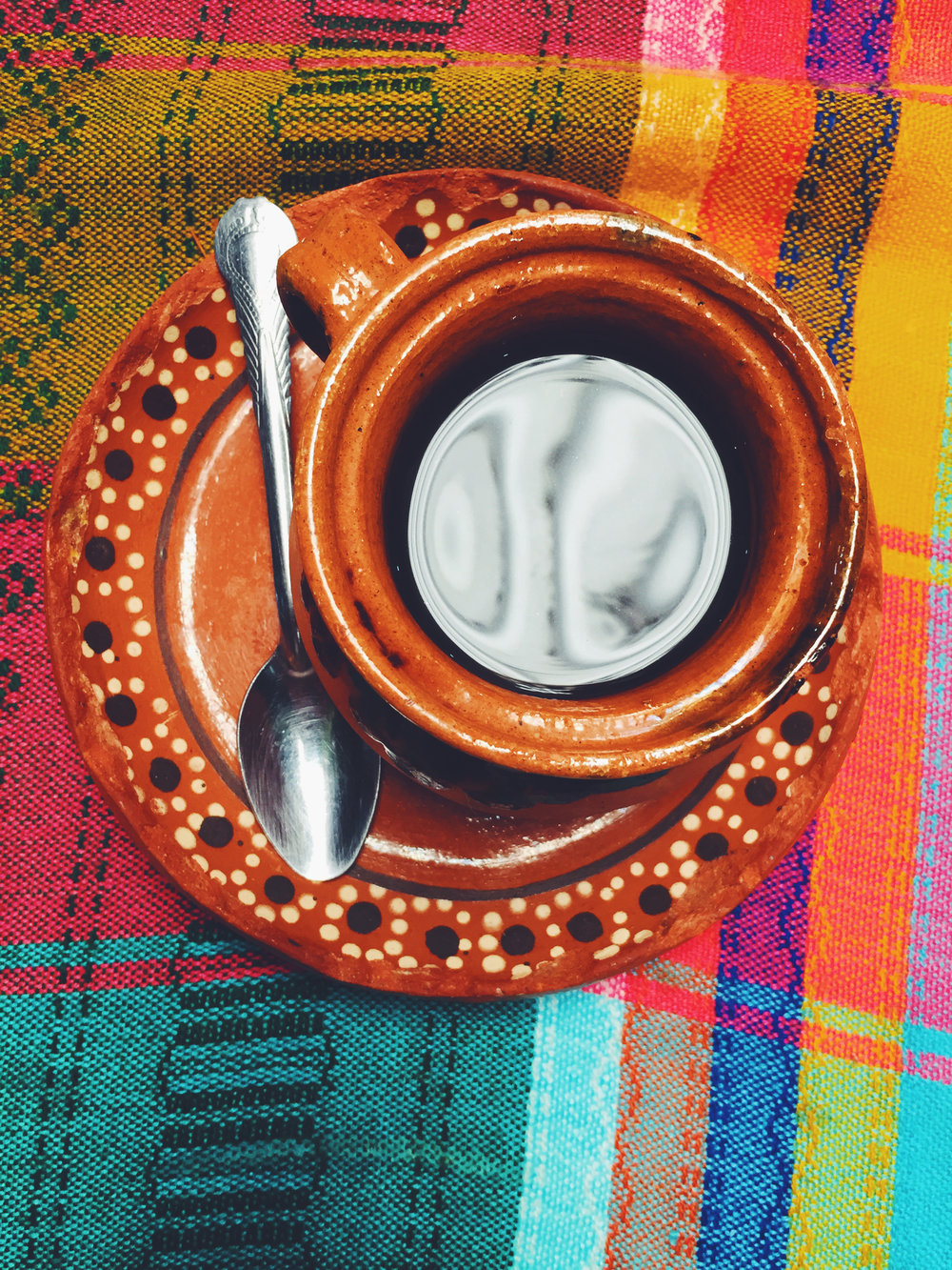 Coffee simmered with cinnamon in Teotixoacan