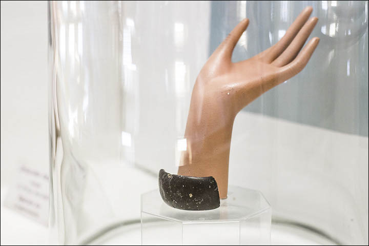 Bracelet on display