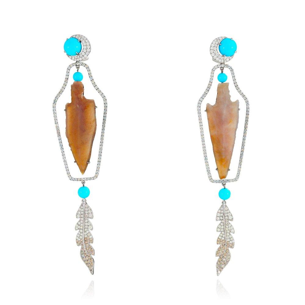 Lydia Courteille - rainbow warrior - arrow earrings
