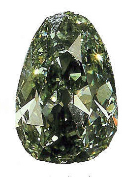 The Dresden Green is a spectacular rare green diamond weighing 40.70 carats.