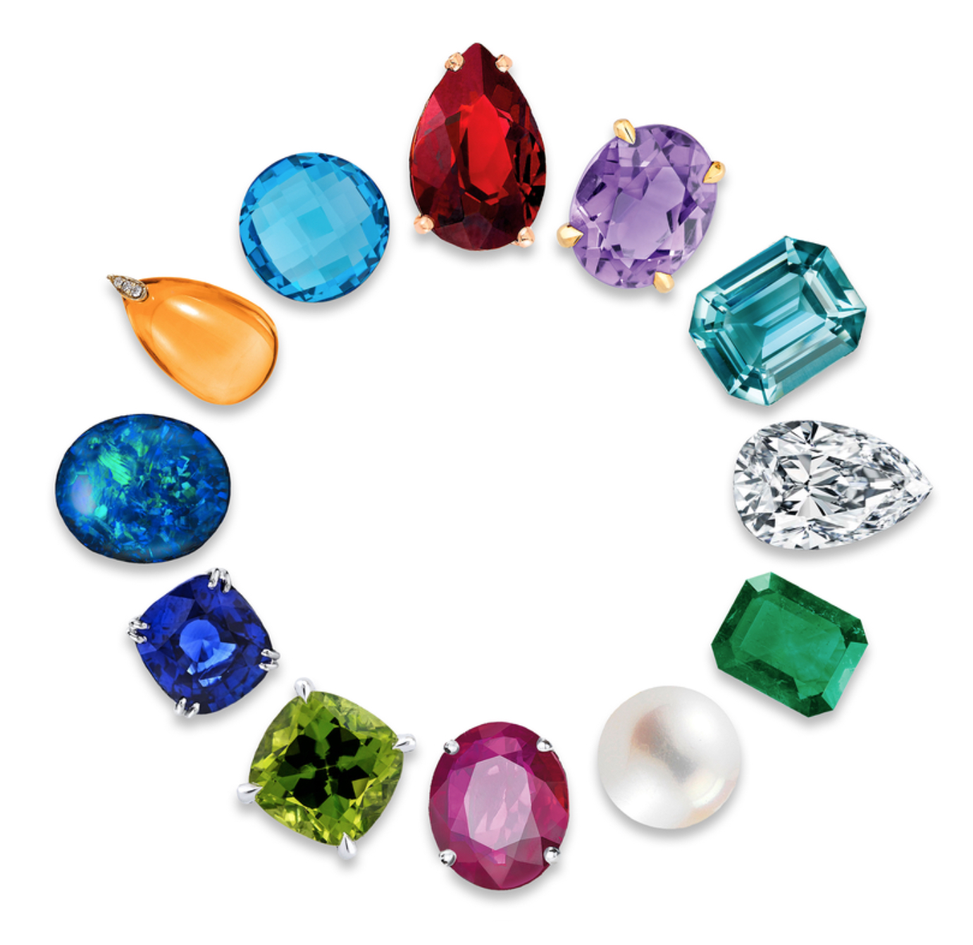 Birthday Gemstone Chart Kathleen Lynagh Jewelry Design