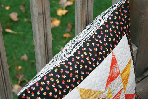 Autumn Star Pillow by Faith of Fresh Lemons Quilts