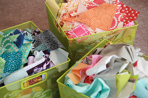 Scrap Bins by Faith Jones of Fresh Lemons Quilts