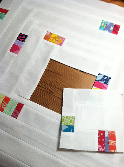 Log Cabin Challenge by Fresh Lemons Quilts