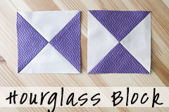 Hourglass Block Tutorial by Fresh Lemons Quilts : Faith