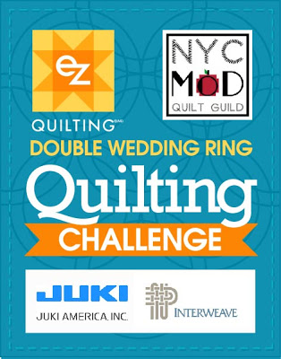 NYC MOD Quilt Guild Double Wedding Ring Quilt Challenge