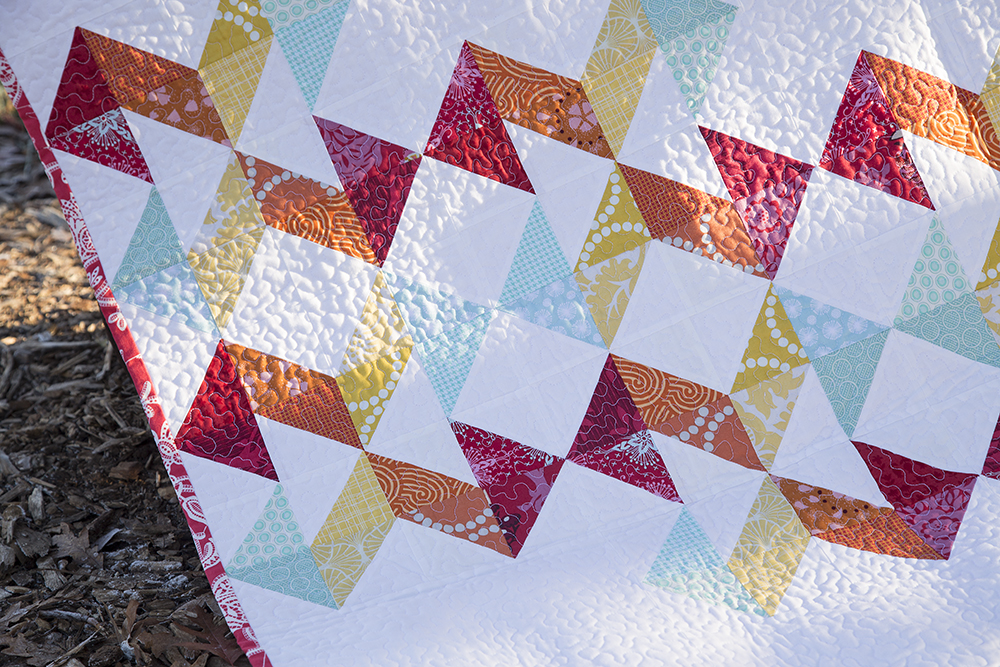Geometric Slide Quilt from pattern in Vintage Quilt Revival : Fresh Lemons Quilts