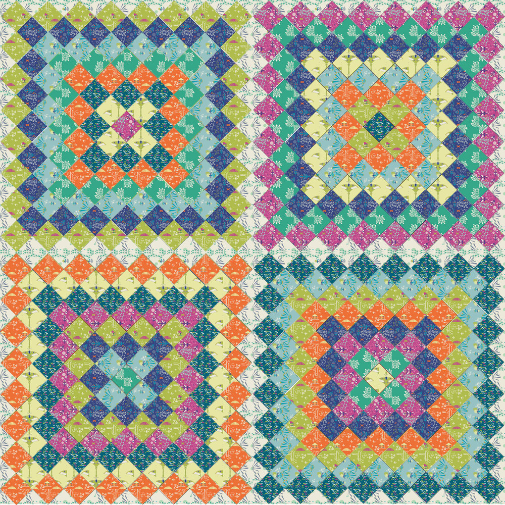 Saddle Up Quilt Pattern by Fresh Lemons Quilts