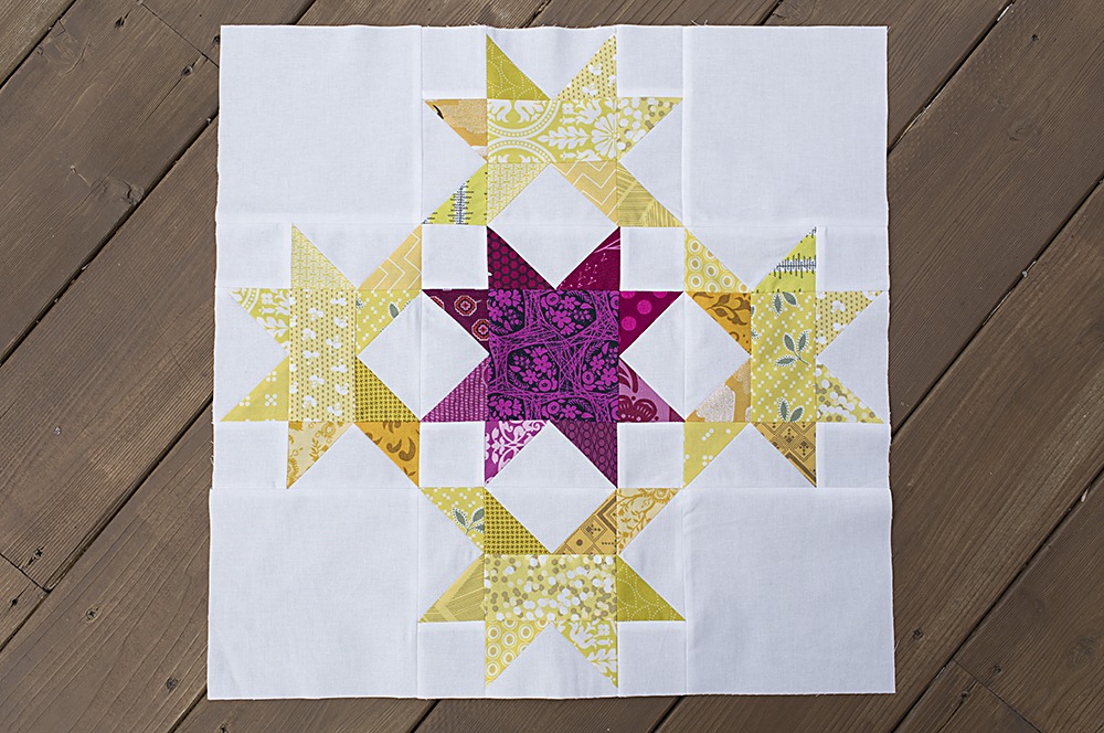 Radiant Splendor Quilt Block Tutorial by Fresh Lemons Quilts