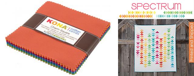 Kona Cottons + Spectrum quilt pattern