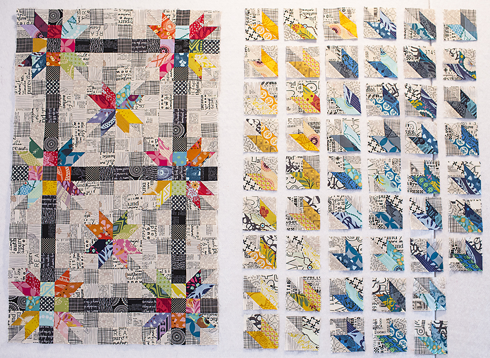 Poinsettia Quilt Quadrants : Fresh Lemons Quilts