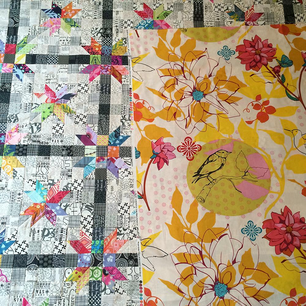 Poinsettia Quilt Top : Fresh Lemons Quilts