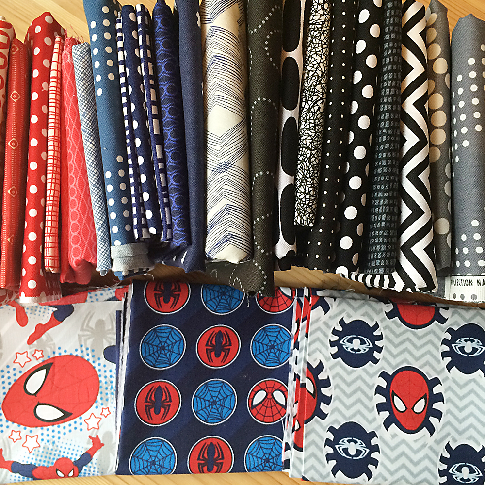 Spidey Quilt Fabric Pull : Fresh Lemons Quilts