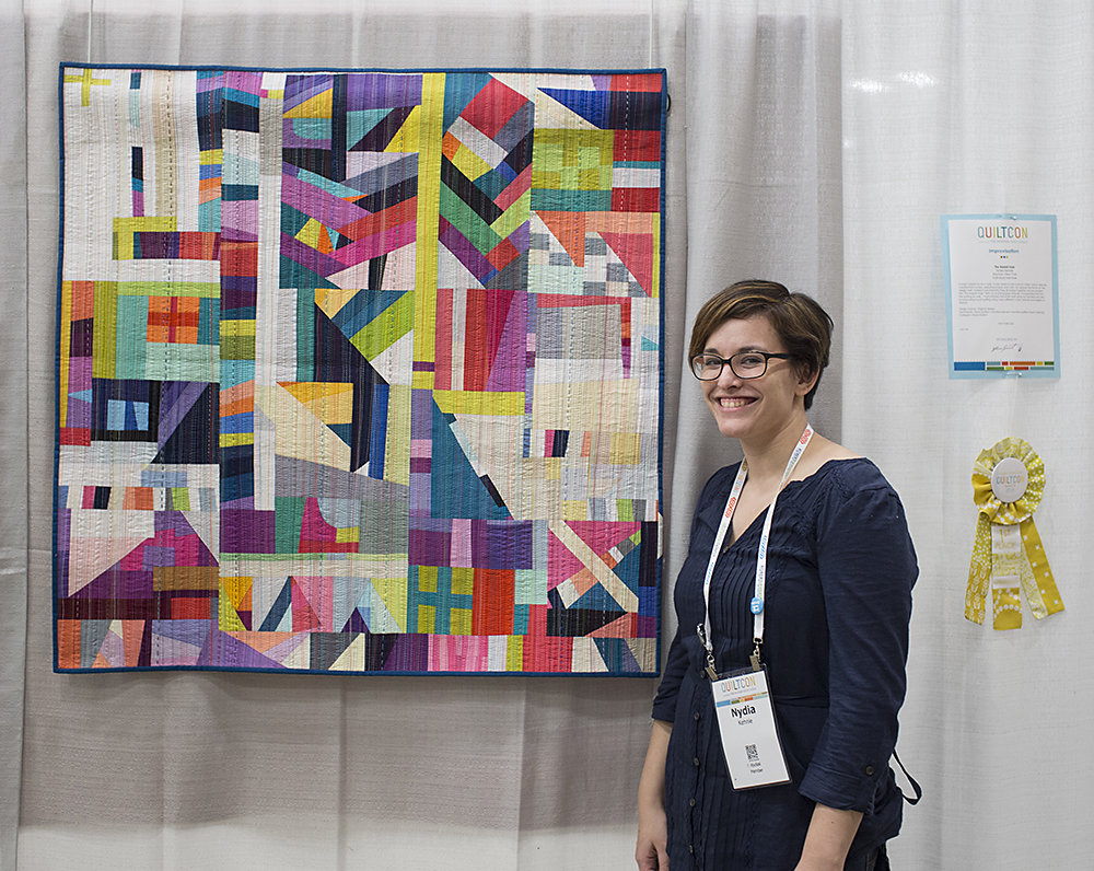 QuiltCon 2015: The Rabbit Hole by Nydia Kennley