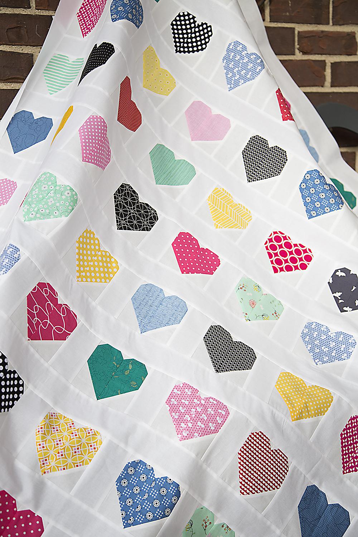 Hanna Hearts Quilt Top: Fresh Lemons Quilts