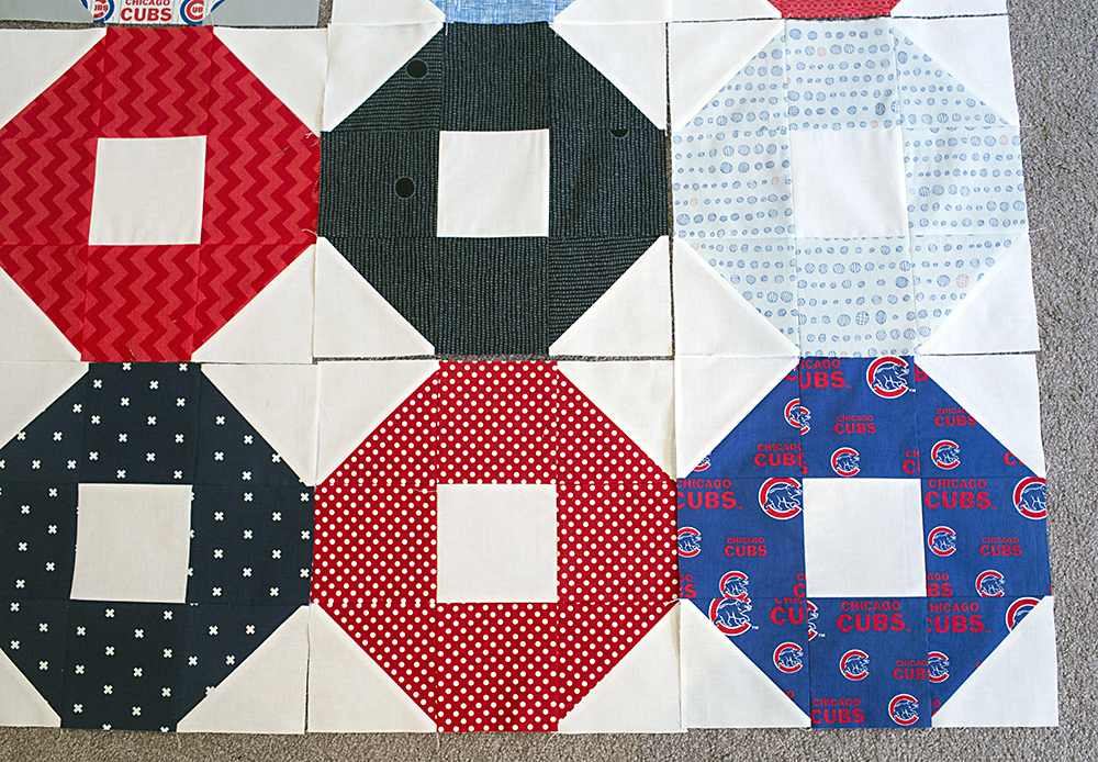 Cubs Quilt Blocks - Shoo Fly