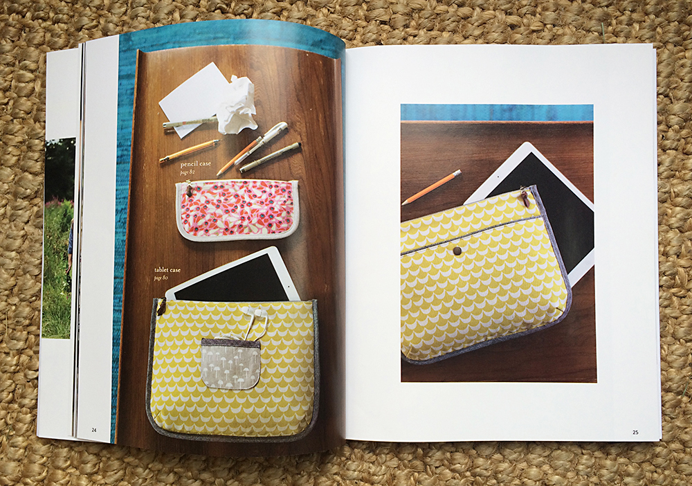 Tablet Case / Pattern from Handmade Style by Anna Graham : Fresh Lemons Quilts