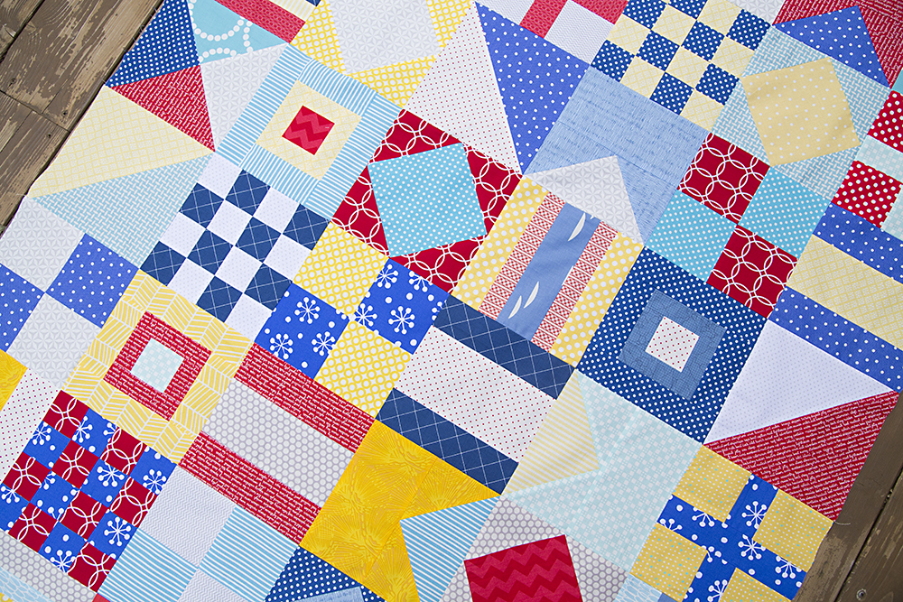 Nautical Quilt Top, pattern by Cluck Cluck Sew : Fresh Lemons Quilts