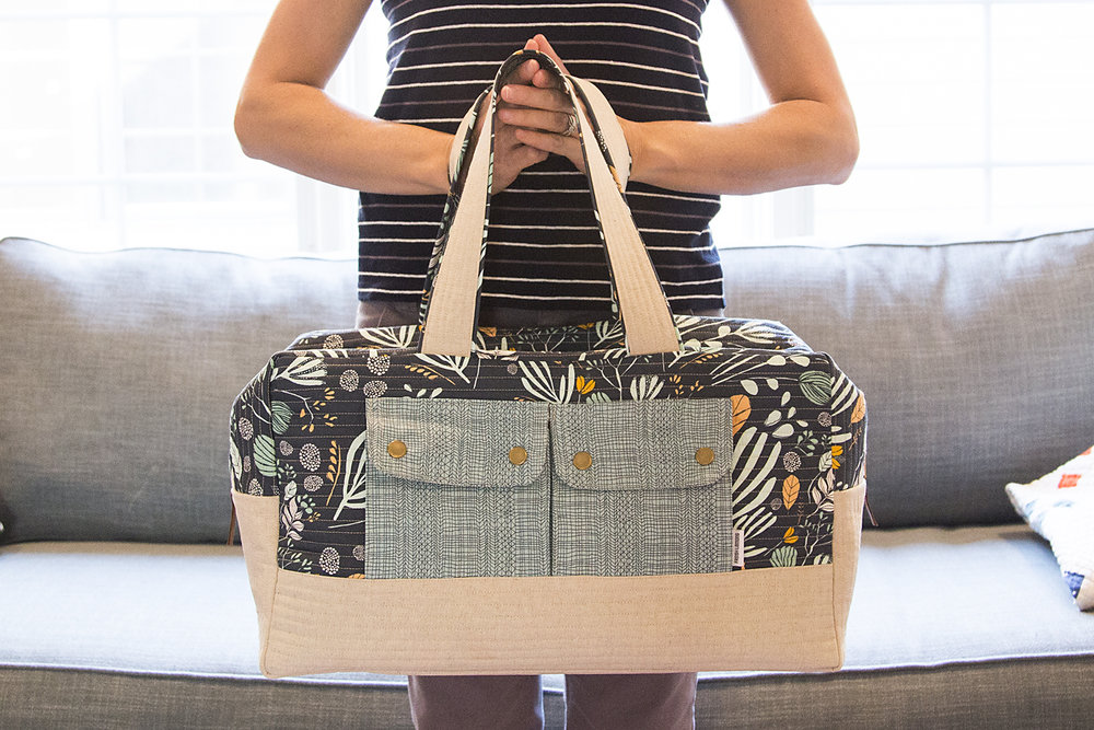 Cargo Duffle, Pattern by Noodlehead : Fresh Lemons Quilts