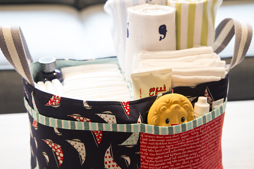 Nautical Divided Basket, pattern by Noodlehead : Fresh Lemons Quilts