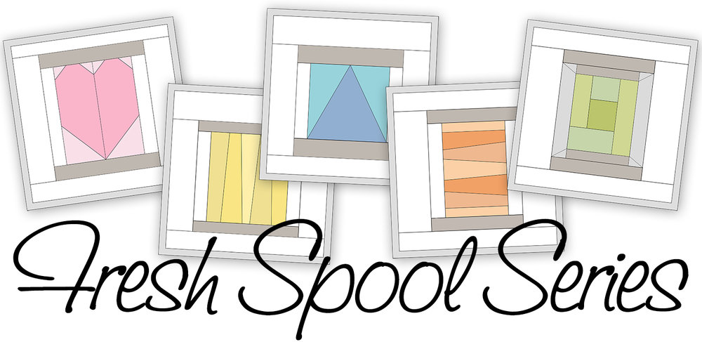 Fresh Spool Series ~ Log Cabin Spool Block Pattern