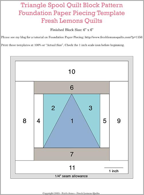 Fresh Spool Series ~ Triangle Spool Block Pattern