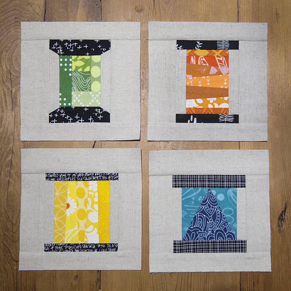 Tall Strings Spool Quilt Block : Fresh Spool Series at Fresh Lemons Quilts