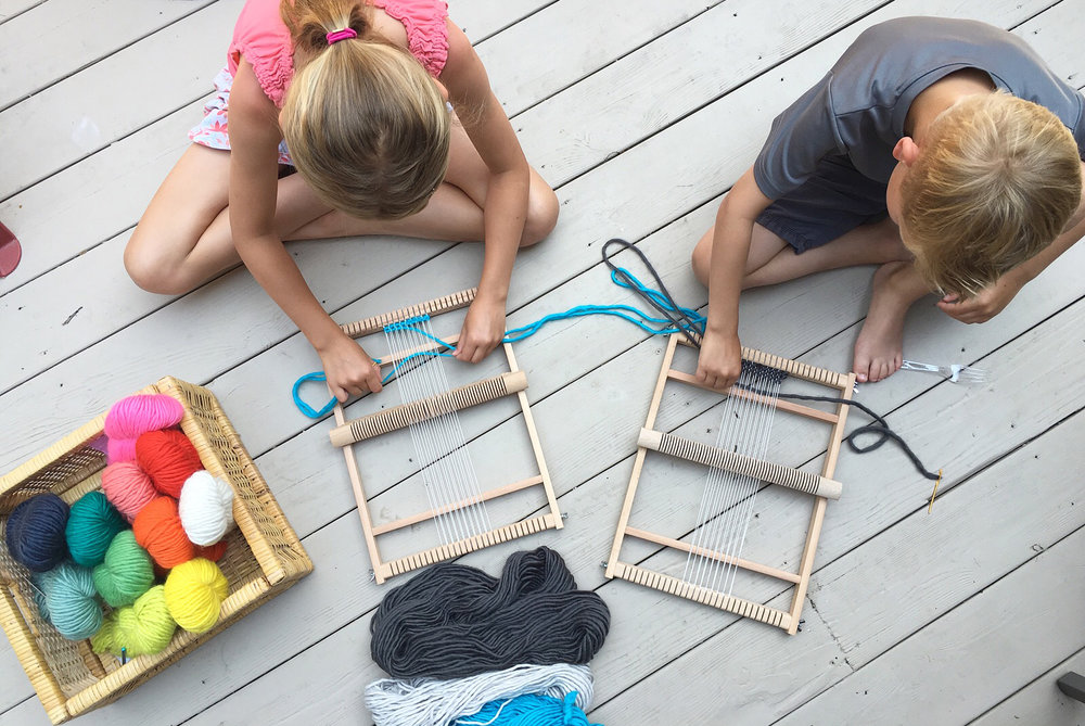 Summer Crafting with Kids ~ Weaving