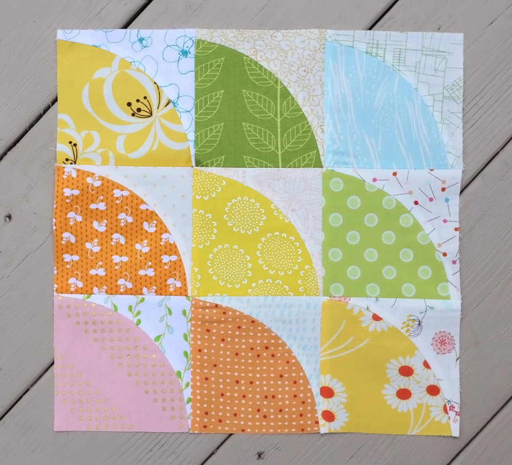 Summer Sampler 2016 : Week 9 / Curves Block by Karen Lewis