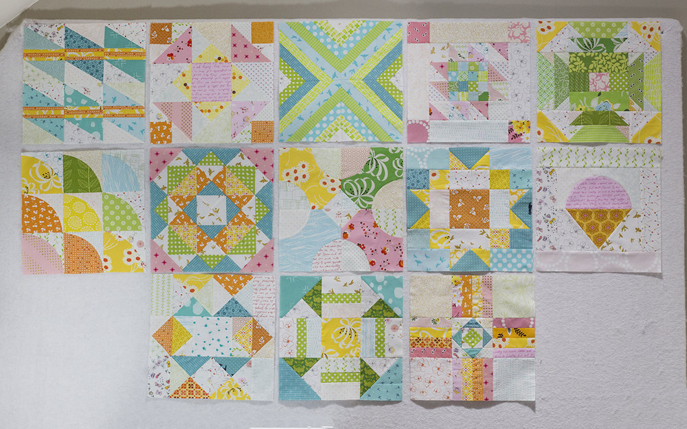 Summer Sampler 2016 : Week 13 / Diamond Ladder by Faith Jones of Fresh Lemons Quilts