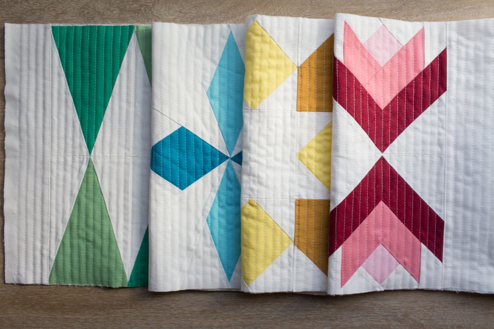 Sugarplum Table Runner Quilting by Fresh Lemons Quilts