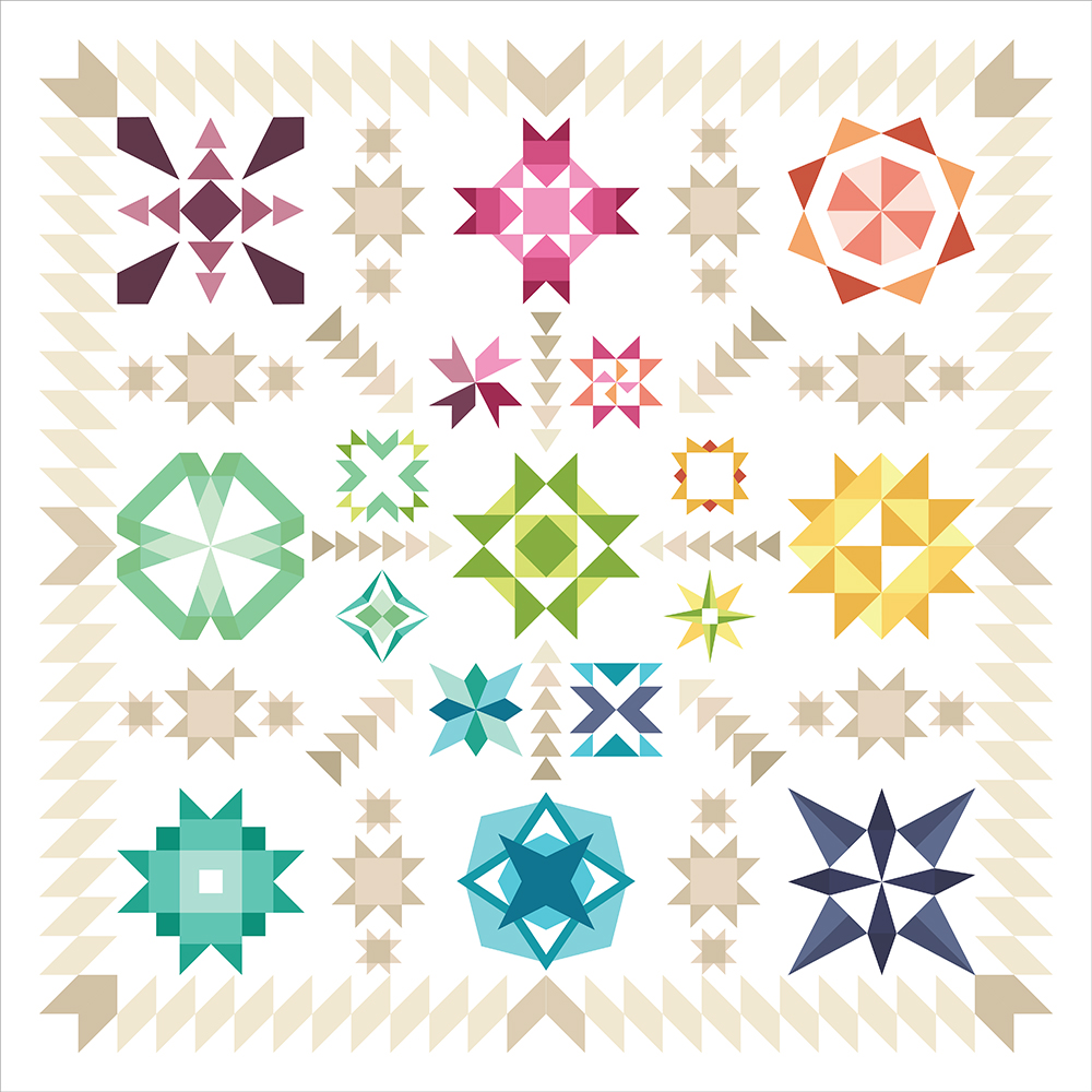Summer Sampler Series 2017 ~ Summer Star Medallion