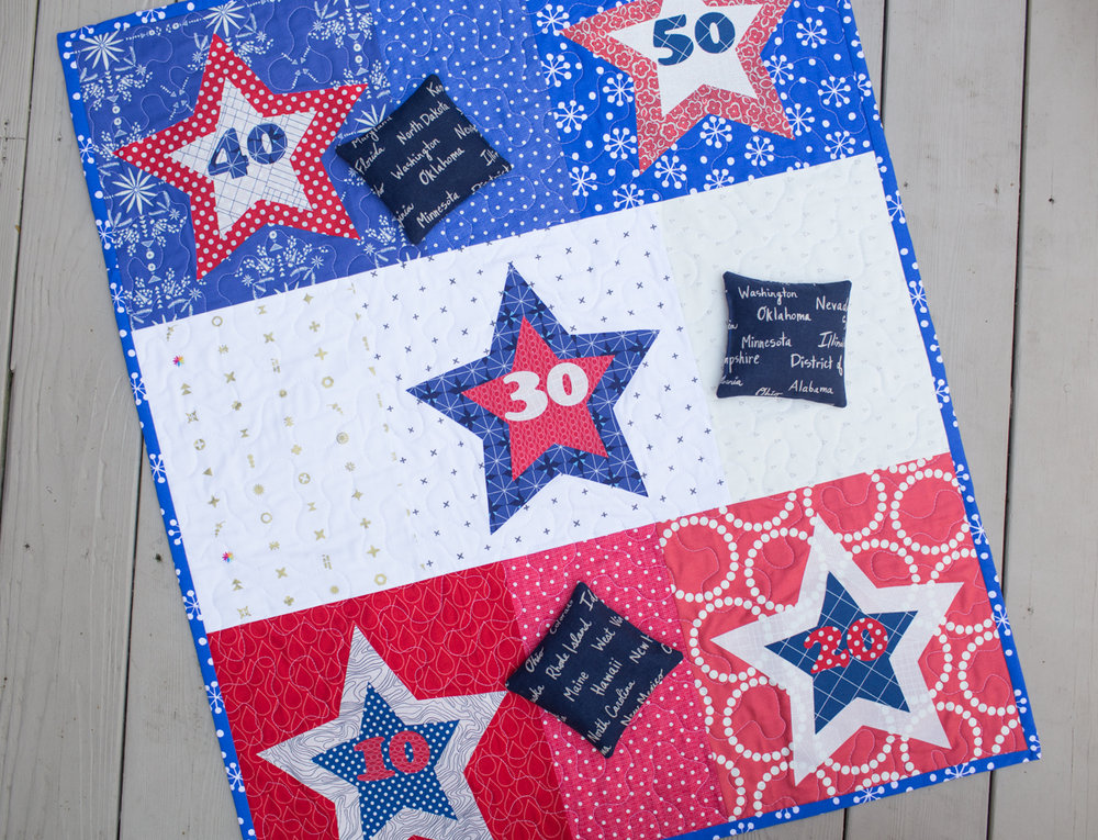 Star Bean Bag Toss Tutorial : Fresh Lemons Quilts