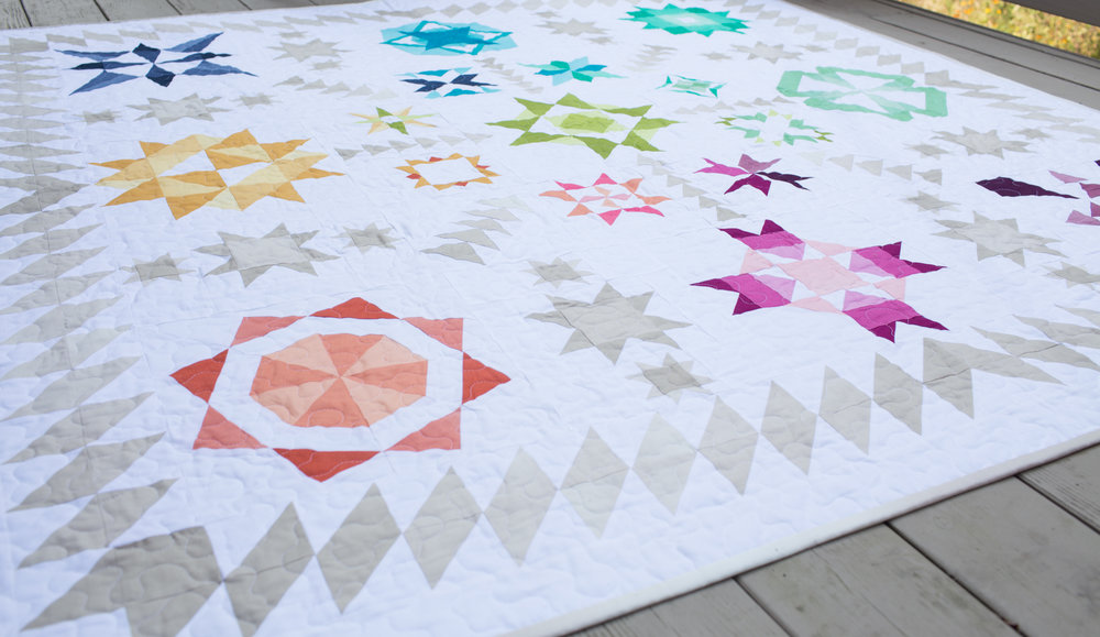 Summer Sampler 2017 ~ A Finished Quilt