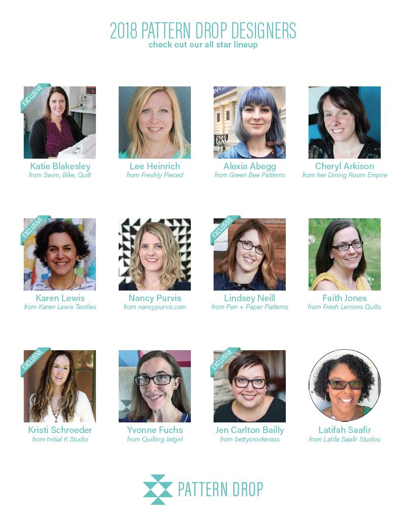 2018 Pattern Drop Designers