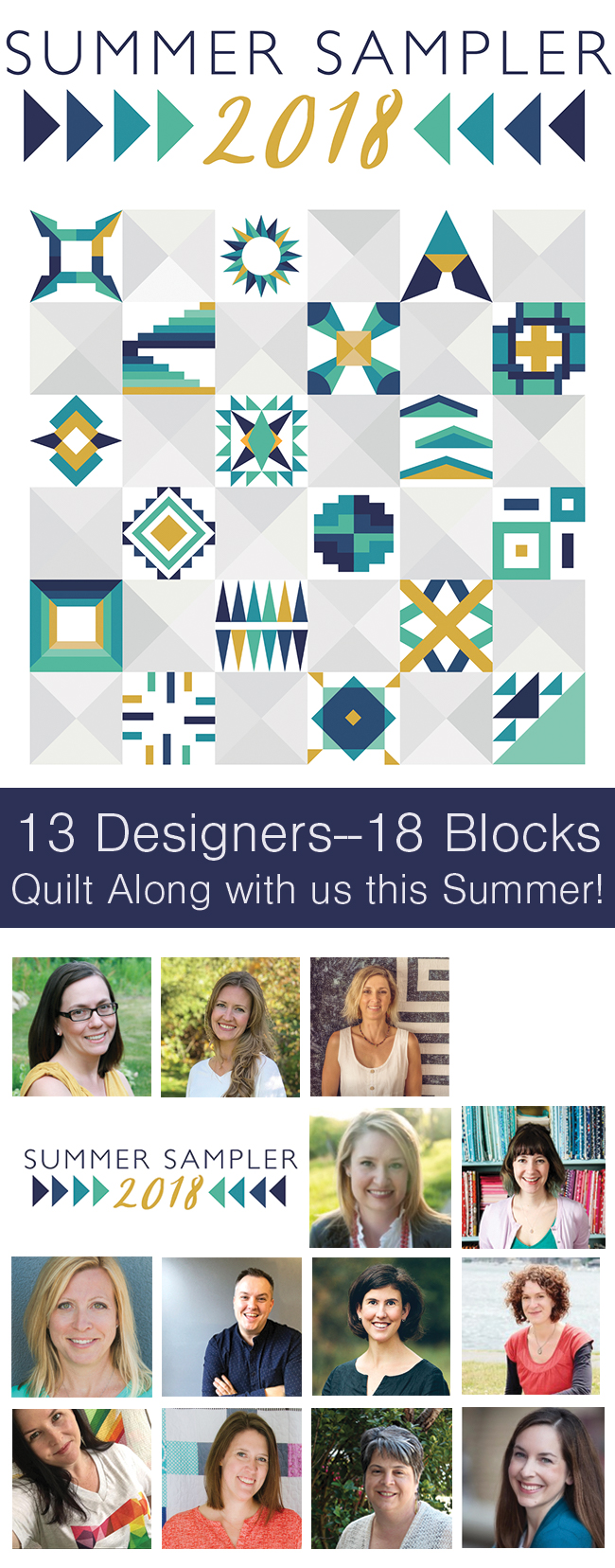Summer Sampler 2018 Quilt Along