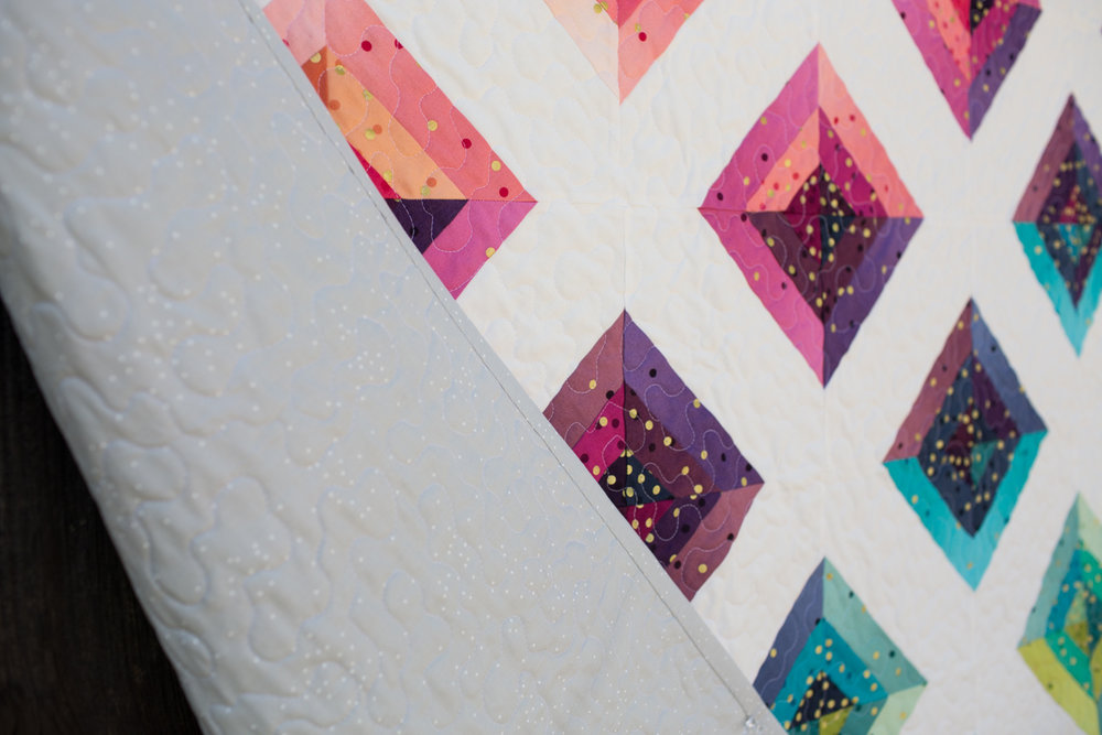 Rainbow Confetti by Fresh Lemons Quilts