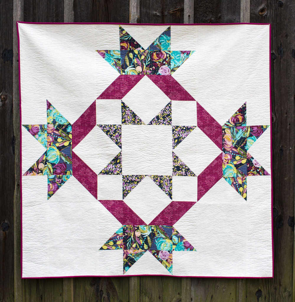 How to Supersize a Quilt Block at Fresh Lemons Quilts