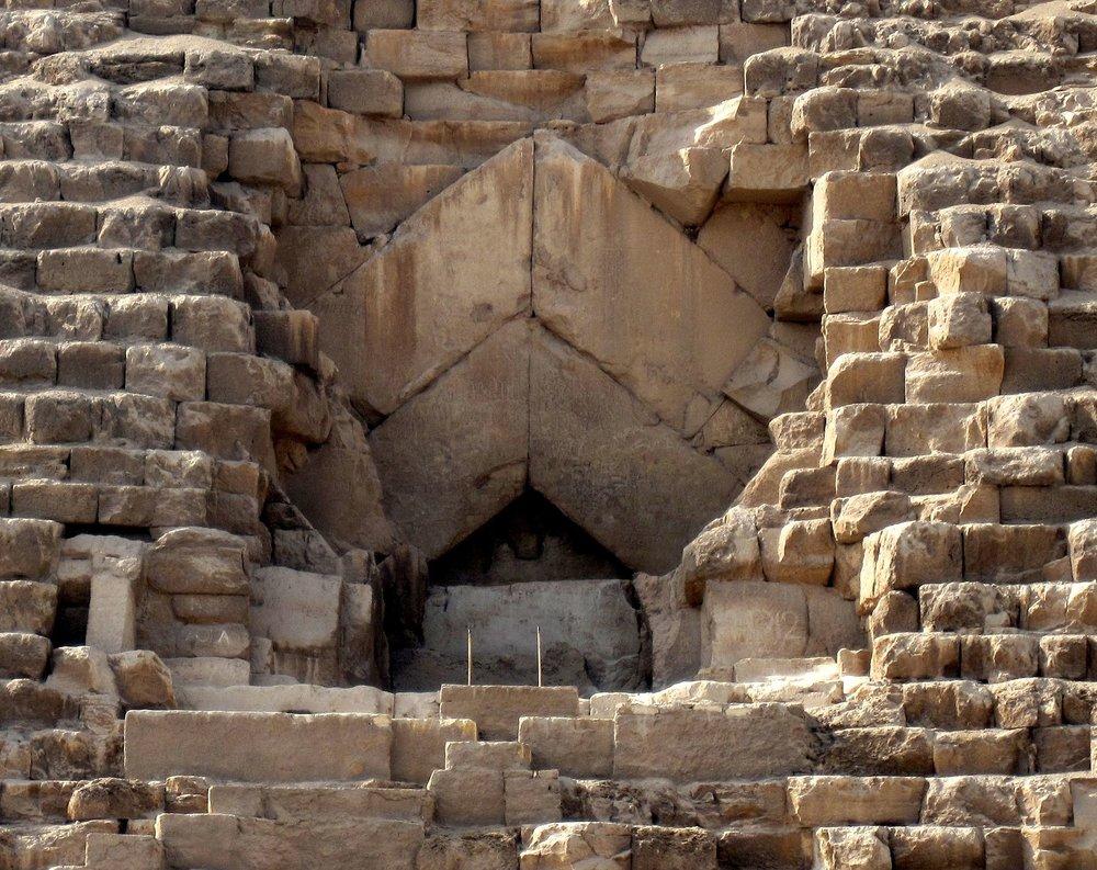 Giza Pyramid Entrance