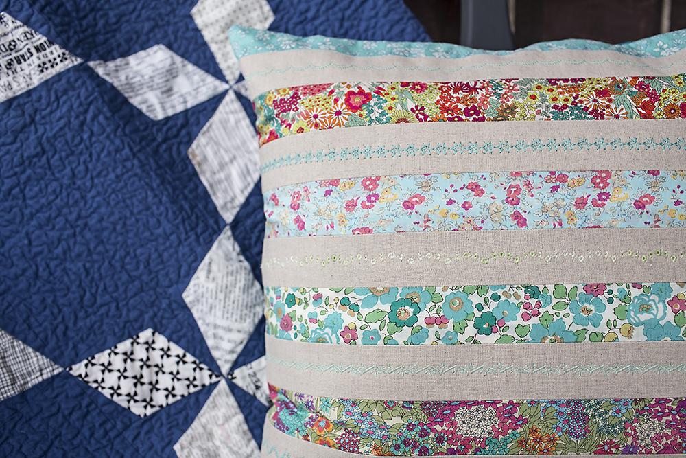 Posy Strip Pillow