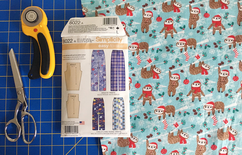 Cozy Pajamas ~ Simplicity 8022 at Fresh Lemons Quilts