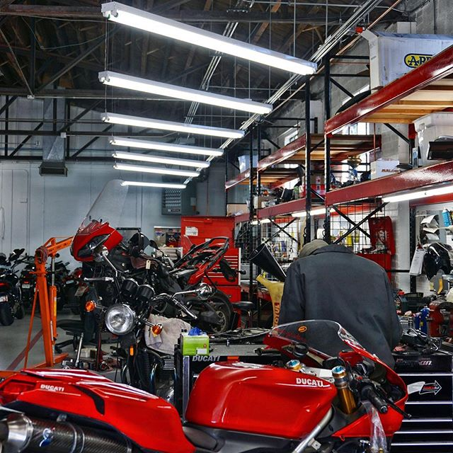 #throwbackthursday creating⚡️power to supply your workers with a lighted and efficient environment to produce the products for your company's customers . . . #ducati #garage #work #mechanic #connectingyouwithquality #truimph #motorcycle #denver #colorado #electrician #build