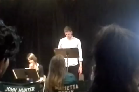 """First stage reading of """"Leon Does The Haka"""", 2016"""