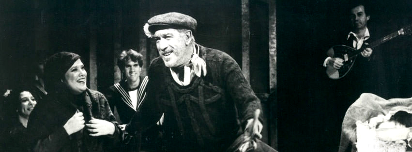 Panchali Null, Rob Marshall, and Anthony Quinn in ZORBA.