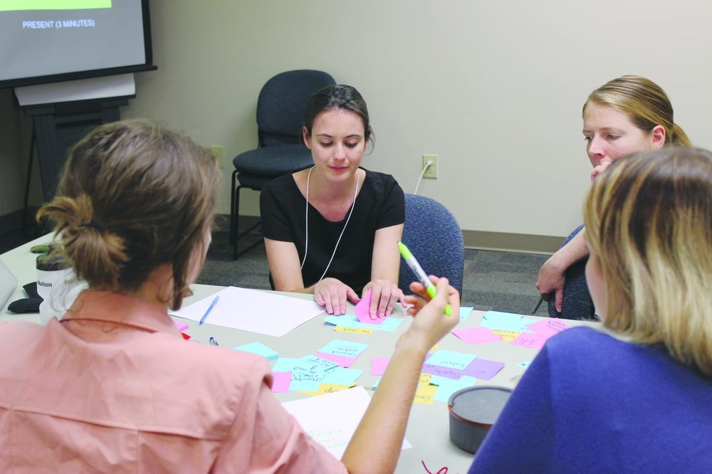 Participants brainstorming ideas during one of the workshop we organized.